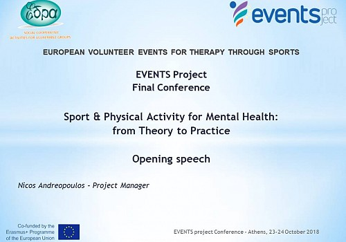 Events Project Conference: Opening Speech