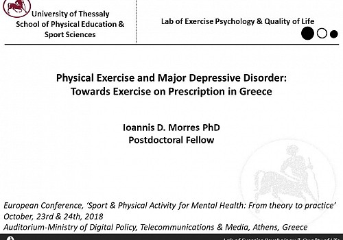 Physical Exercise and Major Depressive Disorder: Towards Exercise on Prescription in Greece